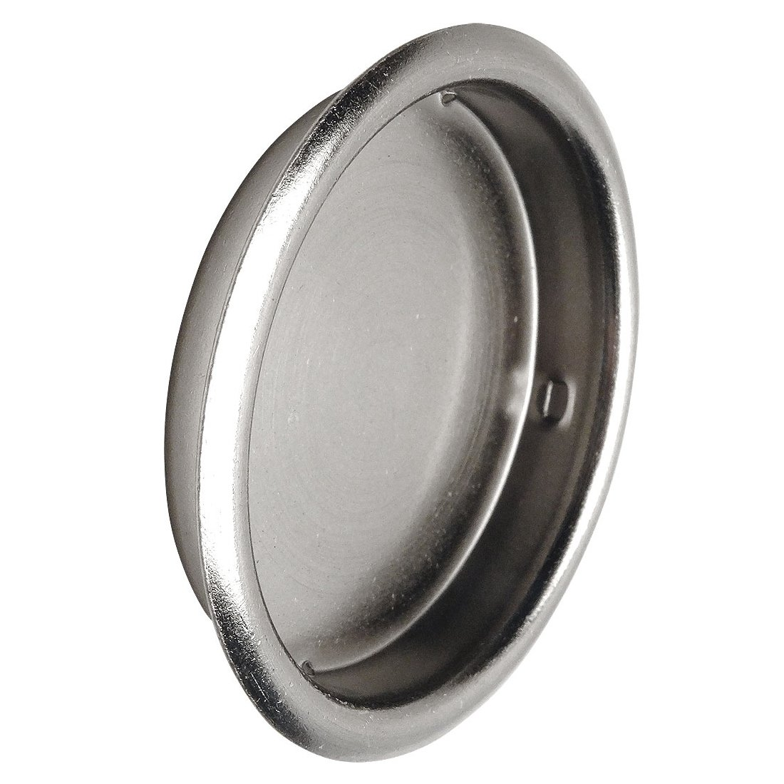 Designers Impressions Satin Nickel 2-1/8'' Pocket Door Finger Cup Pull : 47644