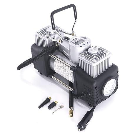 LZH Inflador de neumáticos Bomba, Compresor de aire portátil con Presión preestablecida y pantalla digital