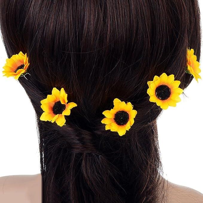 mustard Yellow Harvest Statement Hair Clip Brooch Sunflower Floral Hair Piece Orange Country Rustic Wedding Hello Sunshine