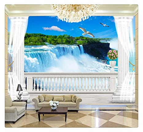 Wallpapers Custom 3d Photo Wall Paper Mural Painting Sea View Roman Column Modern Living Room Sofa Tv Background Home Decoration Wallpaper Painting Supplies & Wall Treatments