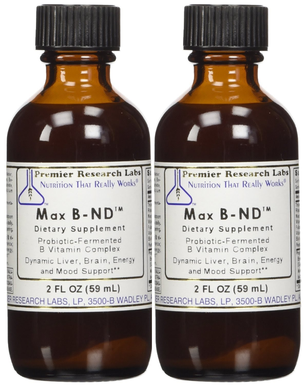 Premier Labs Max B Complex ND 4 Oz 2 – 2 Oz Bottles by Premier Research