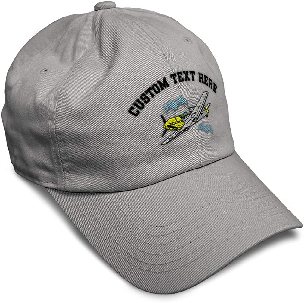 Custom Soft Baseball Cap Plane Messerschmitt Bf-109E Embroidery Twill Cotton