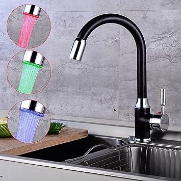 Küche Spültisch Küchenarmatur Wasserhahn Einhebelmischer Armatur Schwarz
