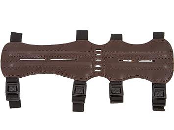 White Feather traditioneller Armschutz Unterarmschutz Streifschutz Recurvebogen