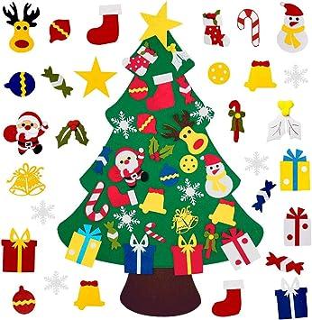 Amazon.com: Muxin - Árbol de Navidad de fieltro con 30 ...