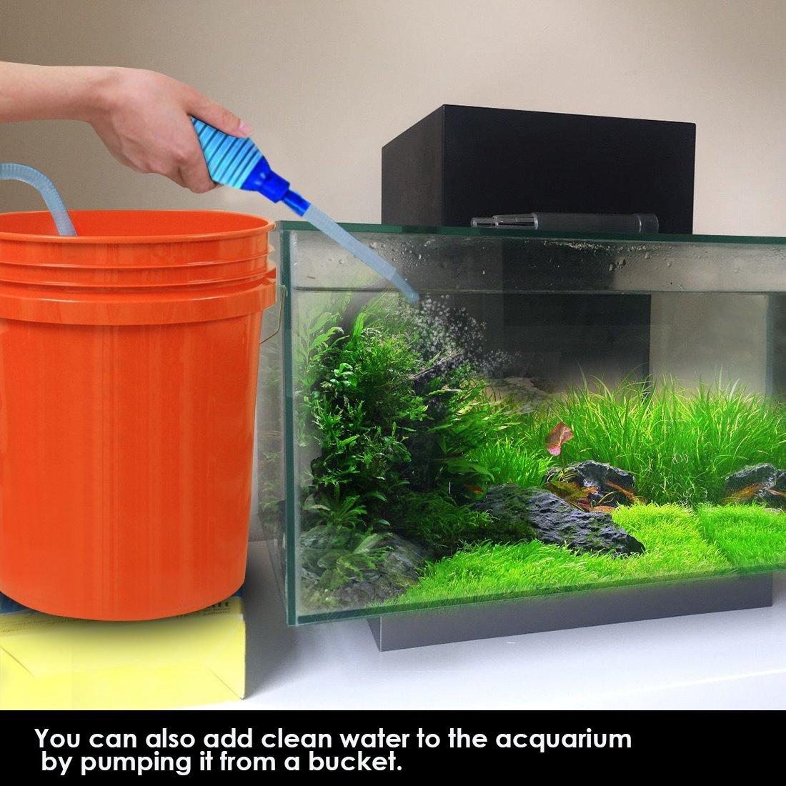 Fesselnd Fisch Tank Aquarium Reiniger Fisch Tank Siphon Vakuum Pumpe Kies Reiniger  Fish Tank Wasser Changer Selbstansaugend Mit Flow Control Tape Fische Net  ...