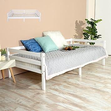 Fanilife Holz Einzelbett Rahmen Bett Gäste Sofa Bett daybeds für ...