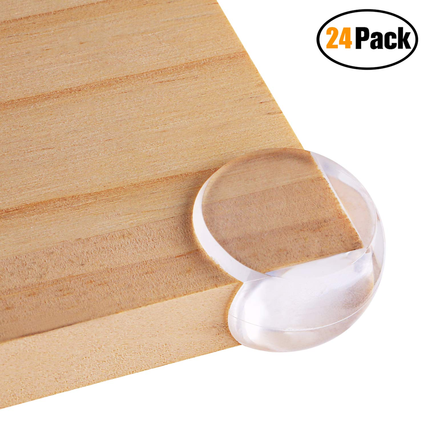 [24 Pack] Elimoons Corner Protectors, Keep Babies&Kids Safe, Corner Guards with Adhesive for Furniture, Table Against Sharp Corners, Ball-Shaped