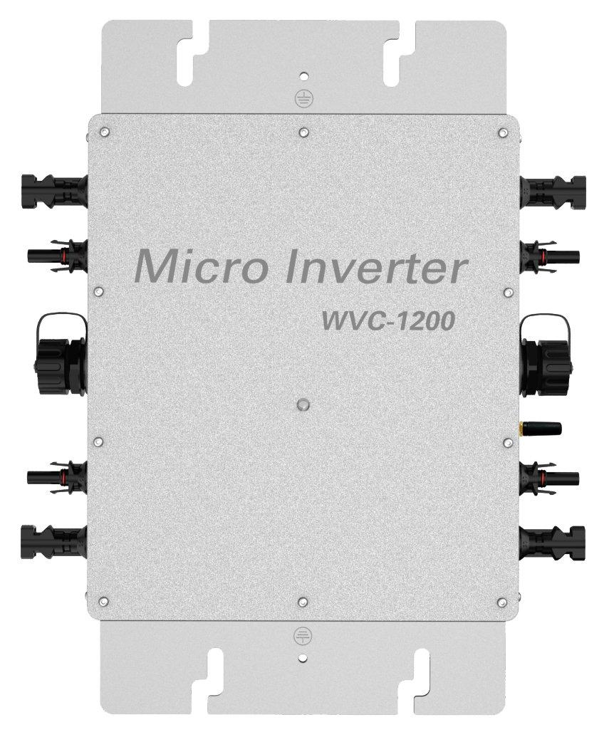 KaiDeng 1200Watts DC22-50V to 220V/230Vac MPPT IP65 Waterproof Solar Grid Tie Micro Smart Inverter WVC-1200 (Wireless) for 4pcs 300W 36V PV Panels