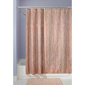 Great InterDesign Oodle Fabric Shower Curtain, 72 Inch By 72 Inch, Earthtone
