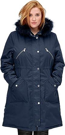 Ellos Womens Plus Size Hooded Zip Front Anorak