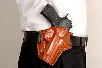 Premium The Ultimate Leather OWB Pancake Holster with Open Top Fits, SAR  Arms SAR K2 45, 9mm 4 5