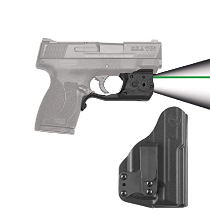 Crimson Trace Green Laserguard Pro w/ Blade Tech Holster for Smith & Wesson  M&P Shield  45 - LL-808G-HBT