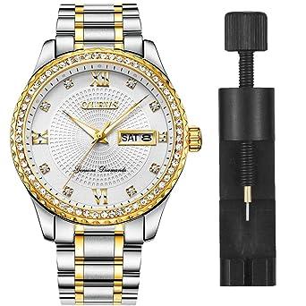 Amazon.com: OLEVS - Reloj de pulsera de cuarzo para hombre ...