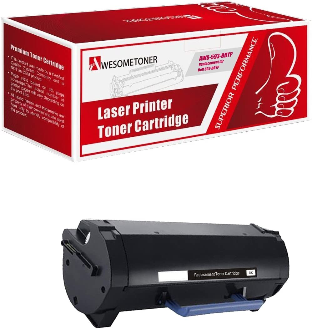 Awesometoner Compatible Toner Cartridge Replacement for Dell S2830 (593-BBYP) use with Laser S2830dn Printer (Black, 1-Pack)