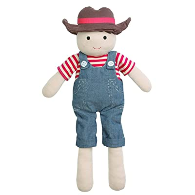 Organic Farm Buddies Plush Toy - Farm Boy, 14 inches: Baby