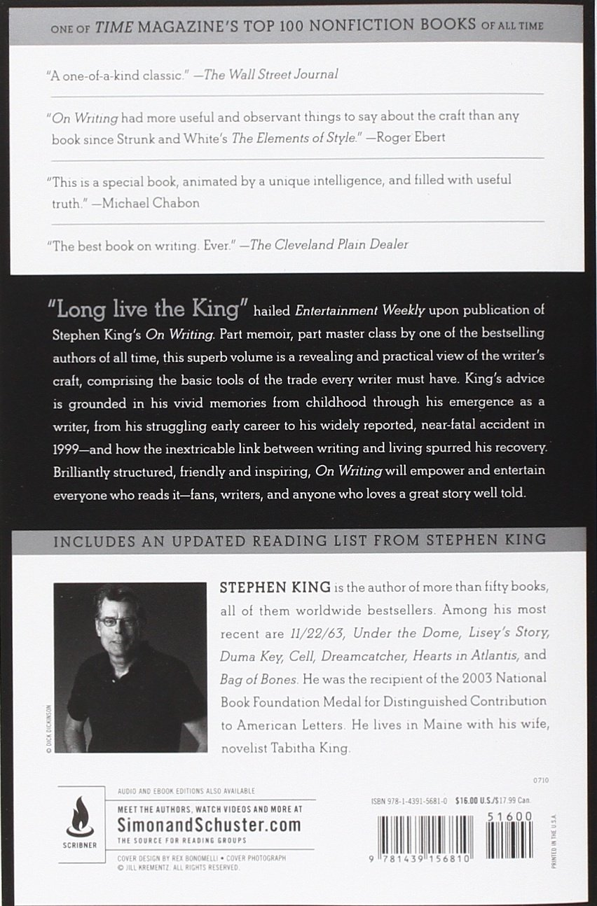 On writing 10th anniversary edition a memoir of the craft stephen on writing 10th anniversary edition a memoir of the craft stephen king 8580001040363 amazon books fandeluxe Gallery