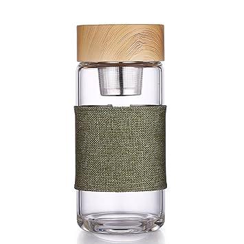 Un día 400 ml cristal de borosilicato botella de agua Eco-friendly fuerte té botella