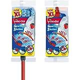 Vileda SuperMocio 3Action XL Mop with Extra Refill, Red/Blue