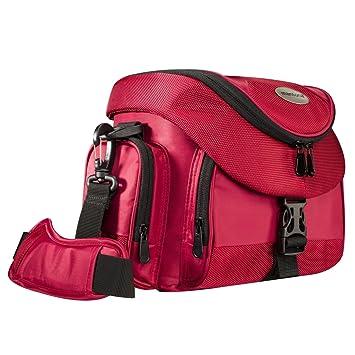 Mantona Premium - Bolsa para cámaras, Rojo y Negro: Amazon ...
