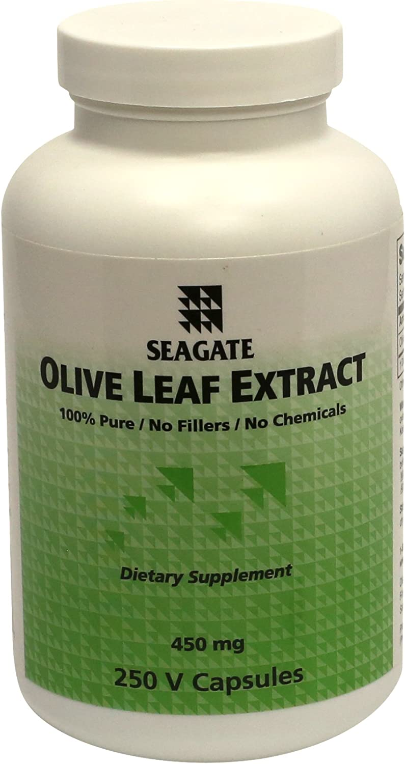 Seagate Products Olive Leaf Extract Supplements 450 mg 250 Capsules