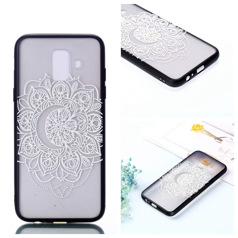 BONROY Coque Samsung Galaxy A6 2018, TPU Fantaisie Effet Relief Ultra Mince Anti-Rayures Antichocs Case Housse tui pour Galaxy A6 2018 Telephone Coque - (Plume de flèche Deux-en-Un Vernis)