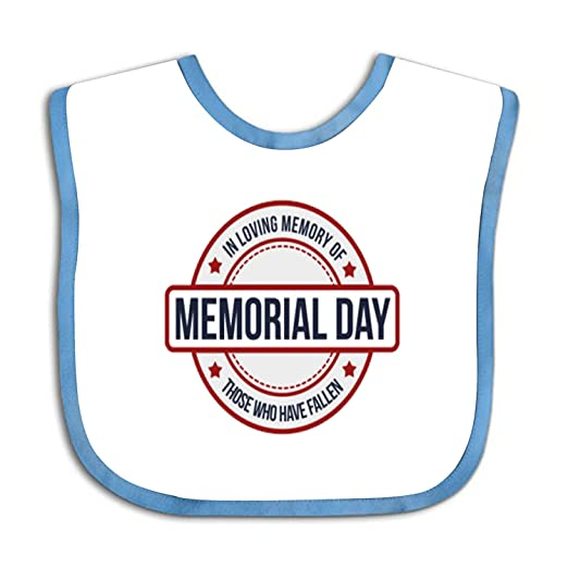39124cc1188a Amazon.com  Soft Memorial Day Holiday Baby bibs - Cute Cloth Baby ...