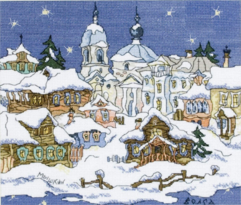 Kreuzstich-Set Russland myschkin as-0810