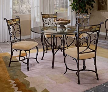 Amazoncom Slate Mosaic Dinette Set with Four Dining Chairs