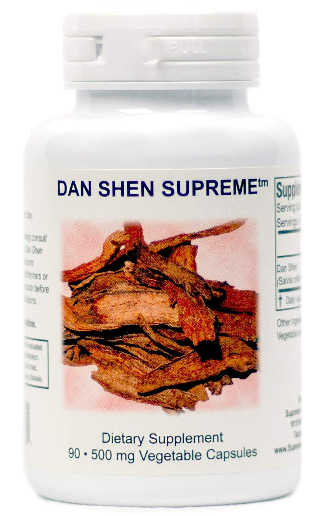 Supreme Nutrition Dan Shen Supreme, 90 Pure 500 mg Red Sage Capsules | 1000 mg per Serving