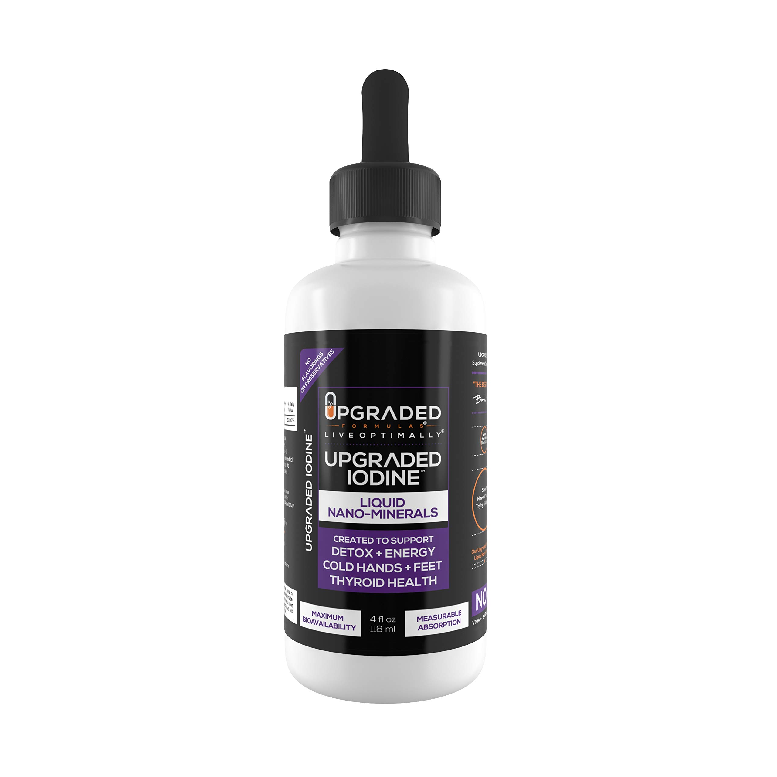 Upgraded Iodine: Keto + Paleo Friendly, Liquid Nano Minerals for Absorption That Skips Digestion. Great for Thyroid Support, Detox, Brain Fog, Faster Metabolism, Better Looking Hair, Skin, and Nails.