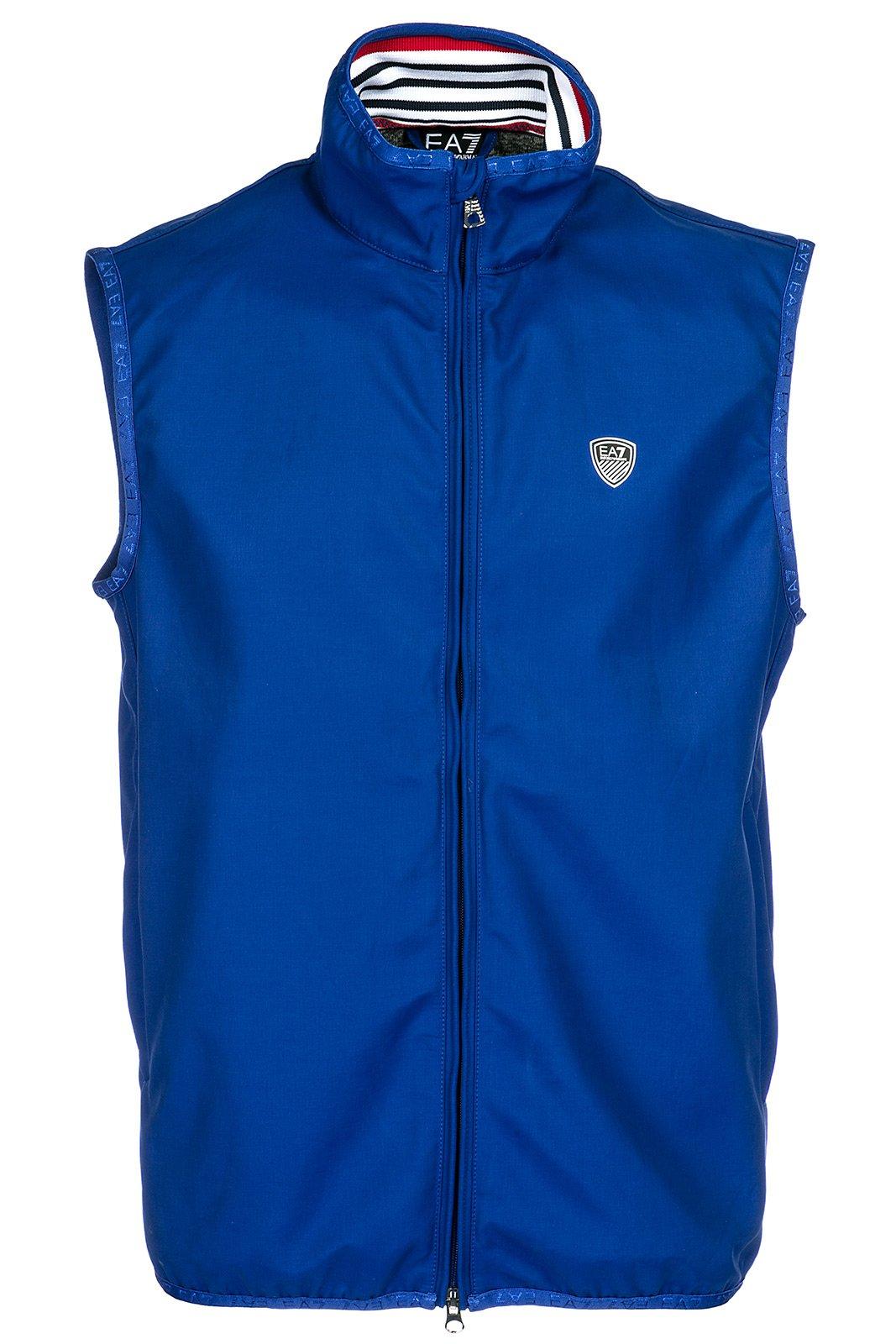 Emporio Armani EA7 Men's Sweater Waistcoat Vest blu US Size M (US M) 3ZPQ06PNF2Z1570
