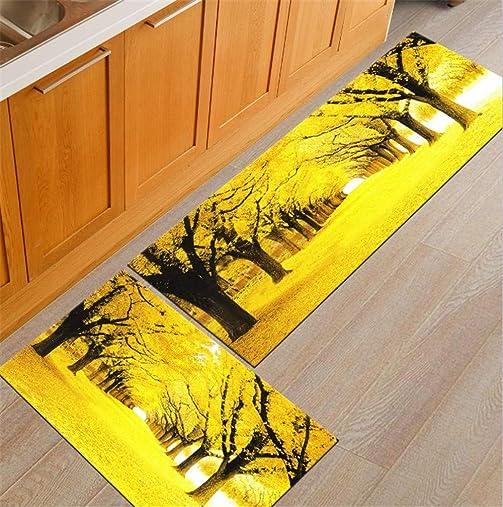 2 Piece Kitchen Rugs Anti-Slip Long Bathroom Carpet Washable Kitchen Mat Bedroom Area Rug Tapete Home Decor 23.6 x35.4 23.6 x 70.9