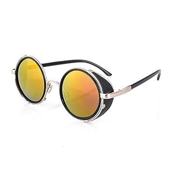 4sold (TM – Gafas de Steampunk Negro Cyber Rave Fangbanger Vintage Victorian como Gafas de Sol