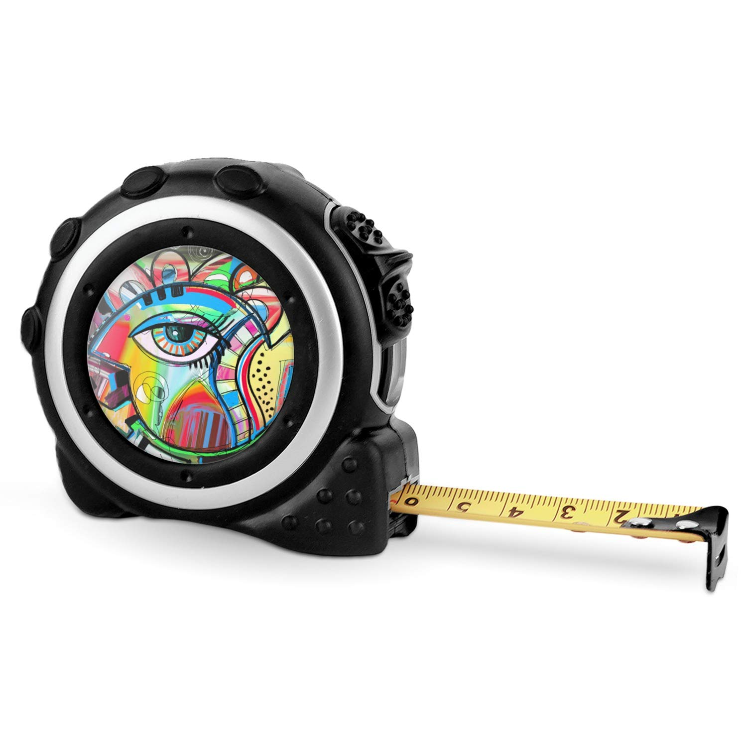 16 Ft Abstract Eye Painting Tape Measure