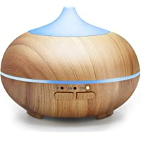 ASAKUKI 150ML Premium, Essential Oil Diffuser, Quiet 5-in-1 Humidifier, Natural Home Fragrance Diffuser with 7 LED Color Changing Light and Waterless Auto Shut-Off