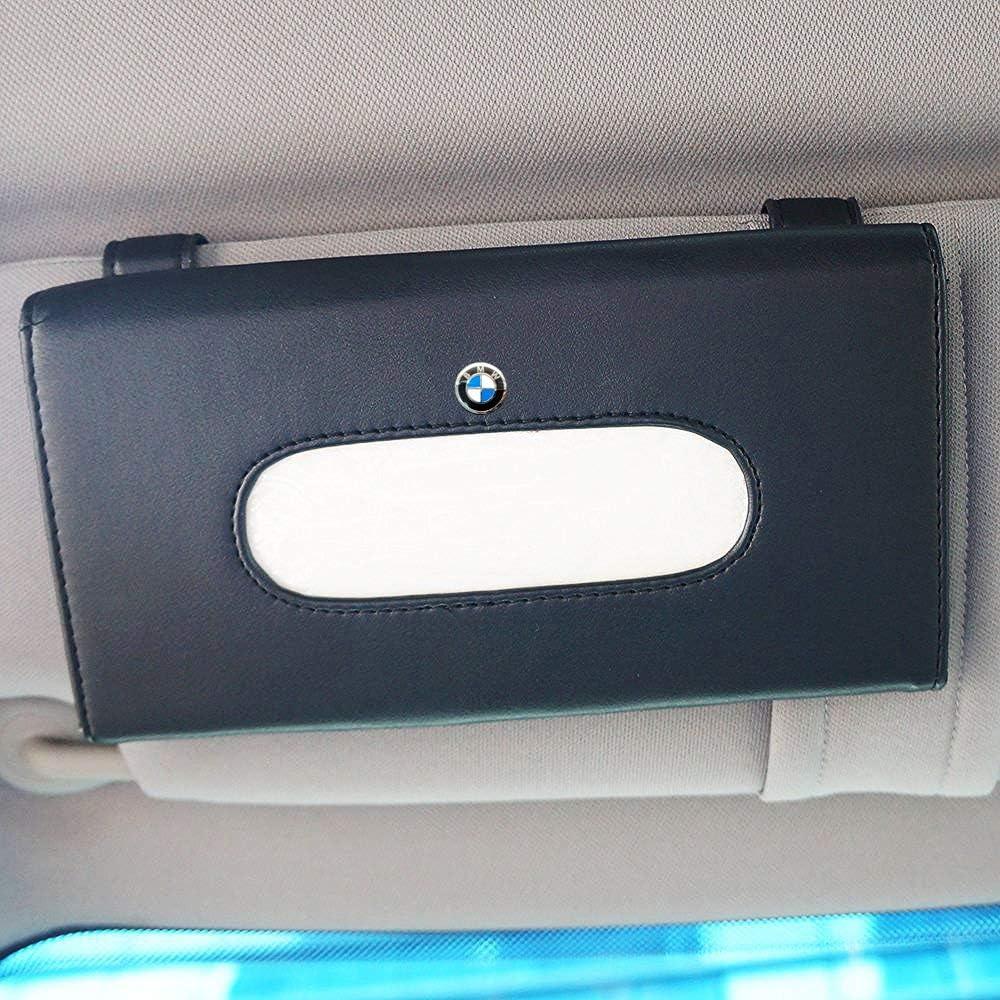 for Toyota Logo Car PU Leather Tissue Case Napkin Holder for Visor /& Backseat,for Toyota(Black)
