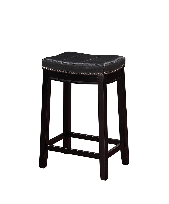 Linon Claridge Counter Stool, Black, 26 x 18 x 12.75