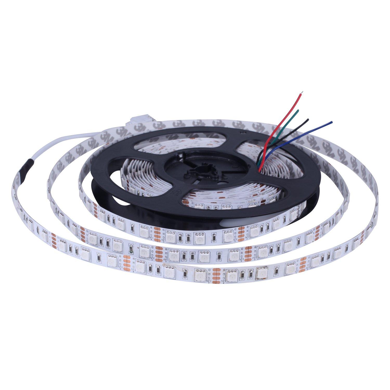 LED Strip Light, 5050 RGB String Light IP20 High Lumen 16.4ft 5m 300LEDs LED Ribbon for Home Improvement Bars and Indoor Use