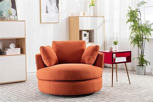 Pannow Modern Akili Swivel Barrel Chair