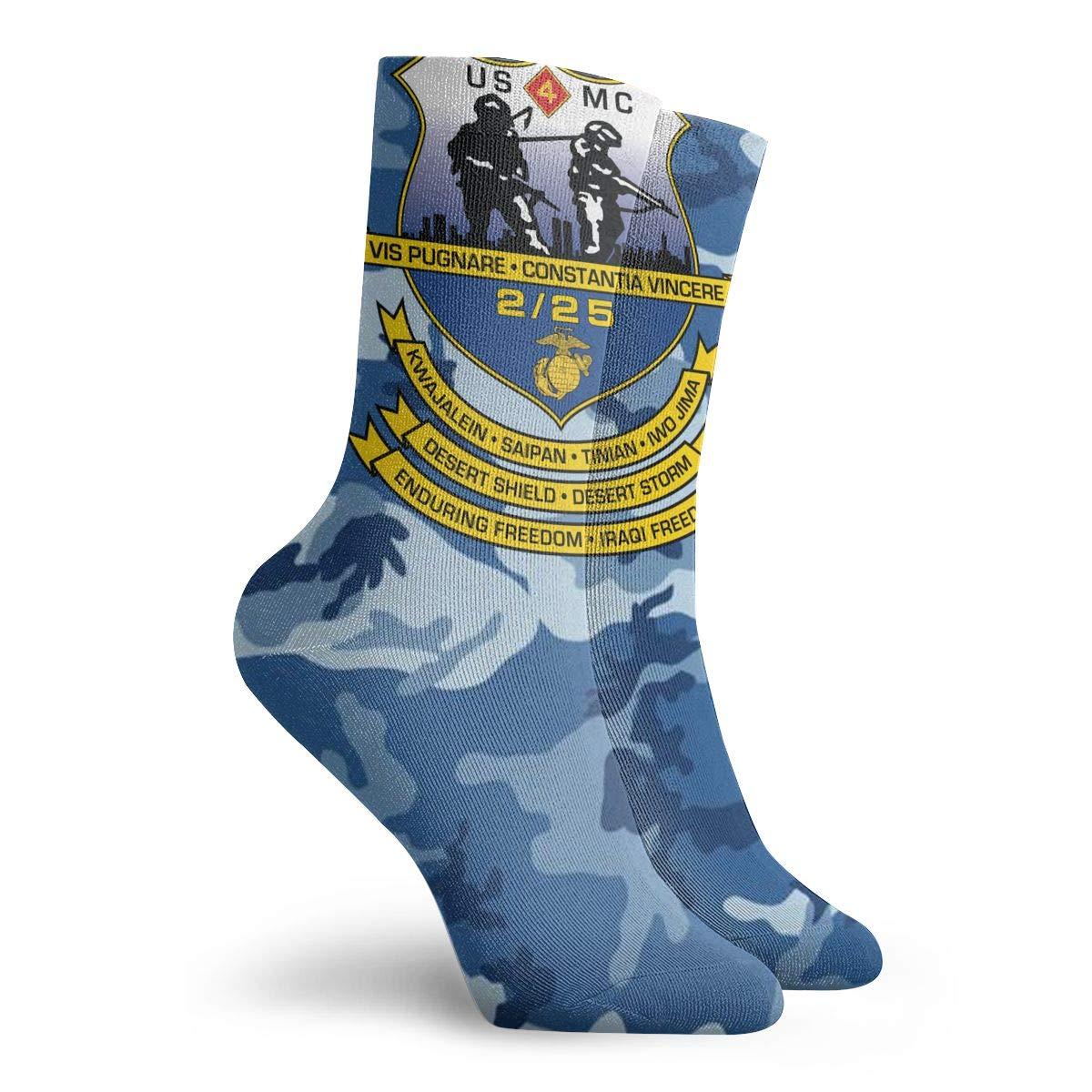 2nd Battalion 25th Marines Unisex Athletic Socks 30cm Long Sock