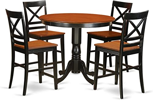 MILA3-SBR-W 3 Pc set Milan offering Leaf and 2 hard wood Kitchen Chairs in Saddle Brown .