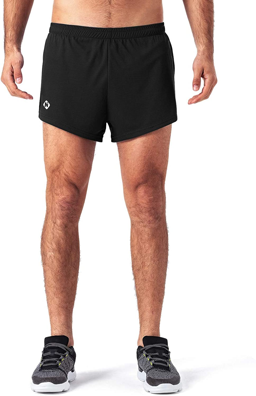 "Naviskin Men's 3"" Quick Dry Workout Running Shorts Training Pace Shorts"