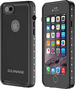 OUNNE iPhone 6/6s Waterproof Case, IP68 Certified with Touch ID Underwater Full Body Cover SandProof Shockproof Snowproof for iPhone 6/6s (Black)