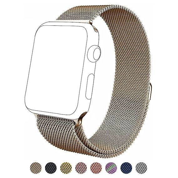 Apple Watch Banda,38mm Milanese Loop Correa de Acero Inoxidable ...