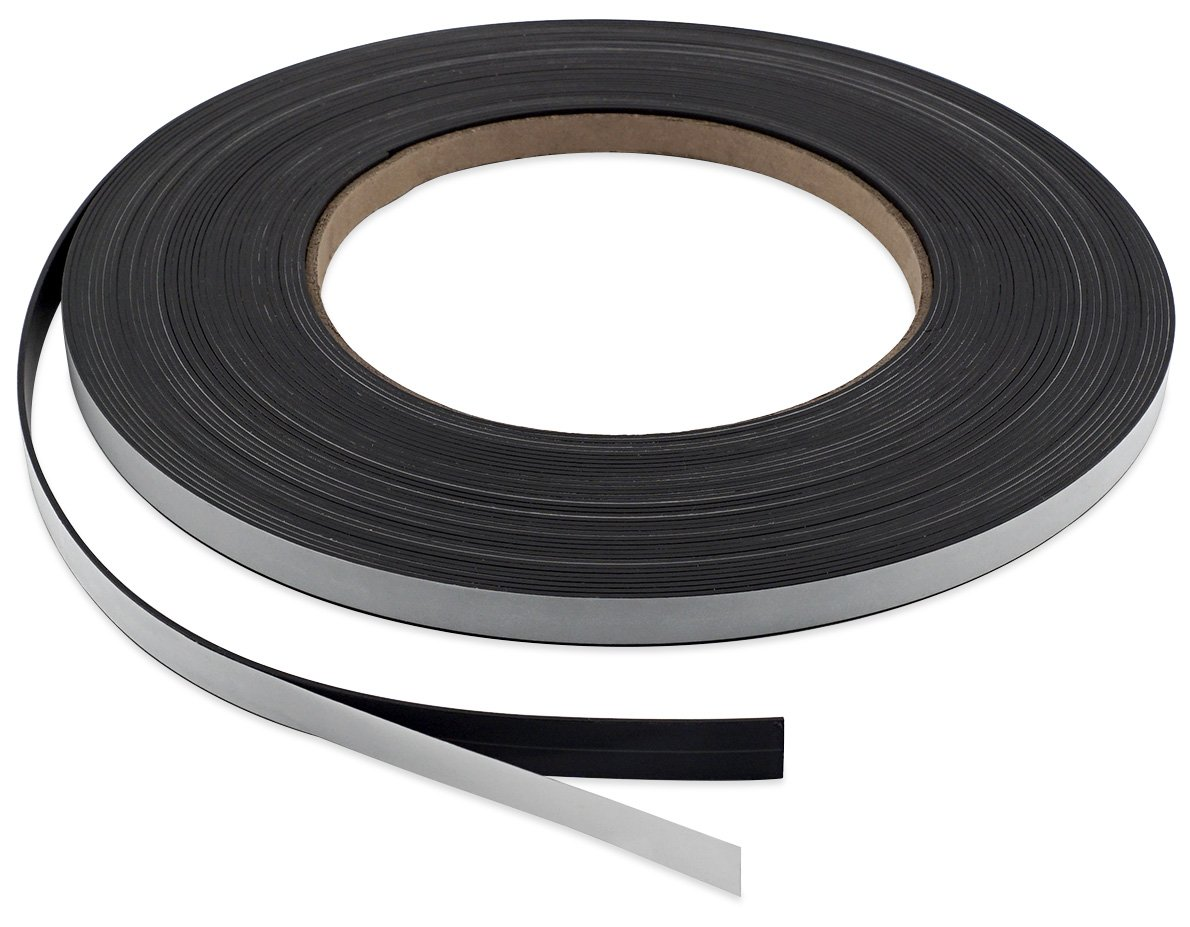 Master Magnetics PSM4-060-.25X100A-AMPBX High Energy Flexible Magnet Strip with Adhesive Back, 1/16' Thick, 1/4' Wide, 100' (1 Roll) 1/16 Thick 1/4 Wide 100' (1 Roll)