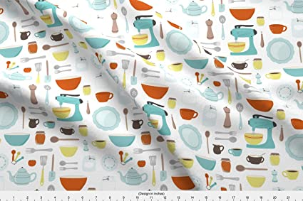 Vintage Kitchen Fabric Interesting Decorating Ideas