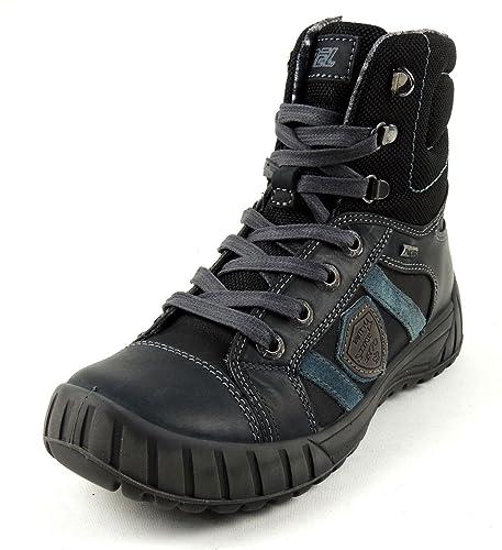 657714502c882 Imac garçon Boots Öko-Tex Cuir avec léger en Nylon Fermeture éclair - Noir  - Noir