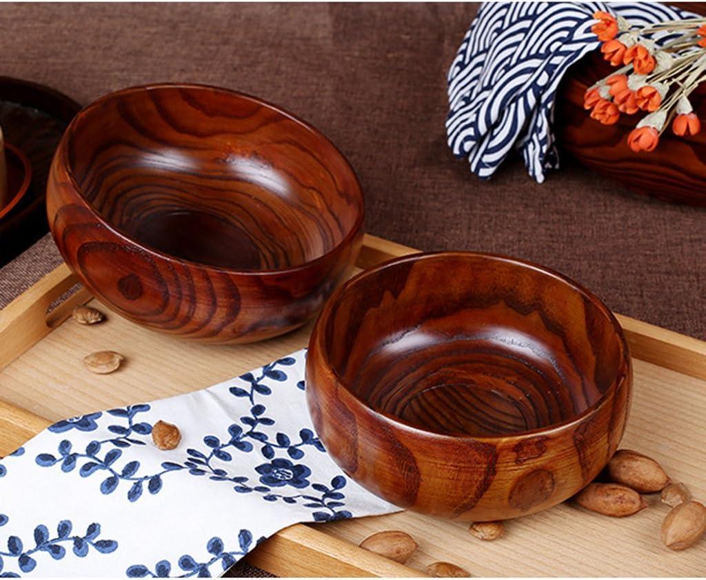 Japanische Stil Salatschale Holz Schüssel Obstschale Geschenk für Freunde
