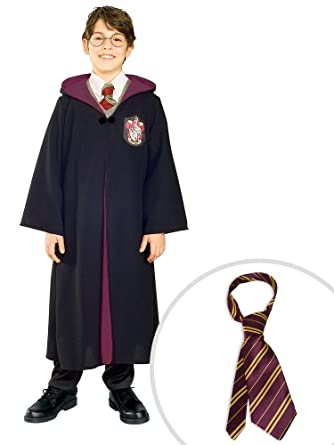 Amazon.com: Harry Potter Costume Kit Kids Small Robe With Harry Potter Tie:  Clothing